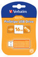 PinStripe USB Drive 16GB - Volcanic Orange