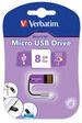 Micro USB Drive 8GB - Violet