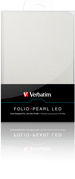 Folio Case with LED light for Kindle - Pearl White