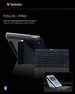 Folio Pro with Bluetooth� keyboard for iPad & iPad 2 - English keyboard