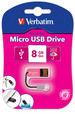 Micro USB Drive 8GB - Hot Pink