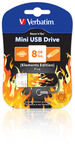 Mini USB Drive 8GB Elements Edition - Fire
