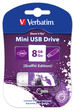 Mini USB Drive 8GB Graffiti Edition - Purple