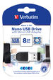 8GB NANO USB Drive with Micro USB Adapter
