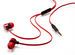 Active Earphones with Microphone - Red