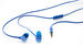 Active Earphones with Microphone - Blue
