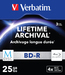 Verbatim MDISC Lifetime Archival BD-R - 3 Pack Slim Case