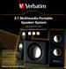 2.1 Multimedia Portable Speaker System