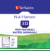 Verbatim PLA Filament 2.85mm 1kg - Natural Transparent