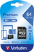 Verbatim Premium U1 MicroSDXC Card 64GB + adapter