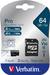 Verbatim Pro U3 64GB Micro SDXC Card