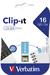 Clip-it USB Drive 16GB Blue