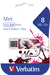 Mini USB Drive 8GB Graffiti Edition - Red