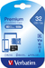 Verbatim Premium U1 Micro SDHC Card 32GB