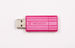 PinStripe USB Drive 8GB - Hot Pink