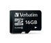 Verbatim Premium U1 MicroSDHC card 16GB