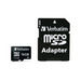 Micro SDHC 16GB - Class 4 with adapter